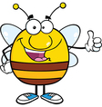 Bee Cartoon vector image vector image