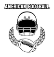 Black and white american football emblem vector image