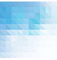 blue geometric background made of triangles vector image vector image