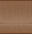 brown wood textured wall and floor vector image