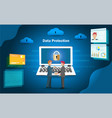 businessman and data security on financial vector image