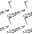 camping pennant seamless pattern monochrome line vector image