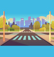 cartoon crosswalks street road crossing highway vector image