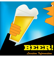 Cheers Beer Background vector image