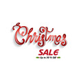 christmas sales vector image vector image