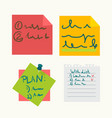 colorful sticky notes with writings set on white vector image vector image