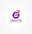creative hexagonal letter g logo vector image