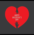 creative valentines day greeting card design vector image vector image