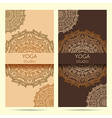 design template for yoga studio vector image