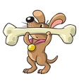 Doggy-athlete lifts the bar vector image vector image