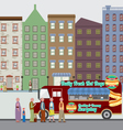 Food Truck On The Street vector image vector image
