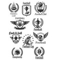 football rugsymbols for championship cup vector image vector image