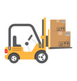 forklift delivery truck flat icon logistic vector image