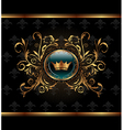 gold invitation frame or packing for elegant desig vector image vector image