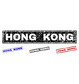 grunge hong kong textured rectangle watermarks vector image vector image