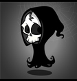 Halloween grim reaper cartoon vector image vector image