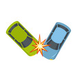 hard collision icon flat style vector image vector image