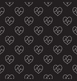 heartbeat dark seamless pattern or vector image vector image