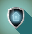 House on the metal shield vector image vector image