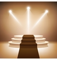 Illuminated stage podium vector image vector image