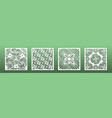 laser cut template set abstract geometric pattern vector image vector image