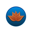 lotus icon logo seal design vector image vector image