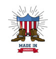 made in usa emblem vector image vector image