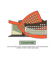 modern concert buildings in flat style vector image