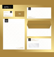 modern stationery set in format letterhead vector image vector image