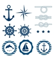 Nautical decoration set vector image vector image
