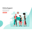 online support concept modern flat design vector image