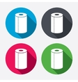 Paper towel sign icon Kitchen roll symbol vector image