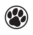 paw logo cat dog animal pet footprint icon vector image