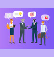 people animal character business meeting vector image
