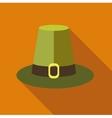 Pilgrim hat icon flat style vector image