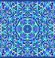 polygonal abstract colorful circular mosaic vector image vector image