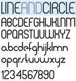 Poster thin circle black font and numbers vector image vector image