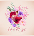 red love elixir and flowers vector image