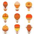 Retro Hot Air Balloons Set vector image vector image