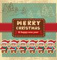 retro vintage christmas card vector image vector image