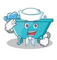 sailor bathtub character cartoon style vector image vector image