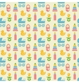 Seamless Colored Baby Items Pattern vector image
