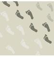 Seamless pattern of footprints vector image