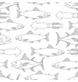 seamless pattern with seafood design element for vector image