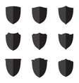 set flat shield vector image vector image