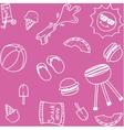 Set of piknik doodle art vector image