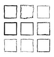 set of square frames drawn 2 vector image vector image