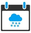 Snow Cloud Calendar Day Toolbar Icon vector image vector image