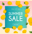 summer sale banner poster flyer lemon vector image vector image