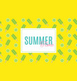 summer time background with ice-cream vector image vector image
